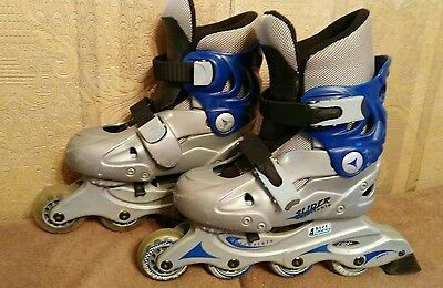Children's Size  EURO 31-34 (13-3) Blade X Slider Adjustable Inline Skates.