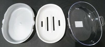 New 3xTravel Soap Holder  Box Dish Case Container w Lid Made in Japan
