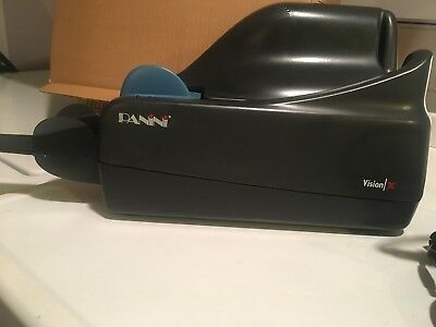 PANINI VISION X Document Check Scanner Black Pre owned Great Condition USB cable