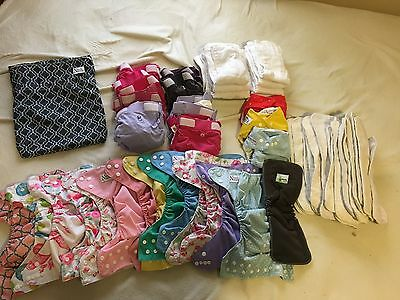 Variety of cloth diapers lot for sale! Norah's nursery, g diapers, bumpkins, bag