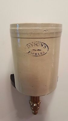 Vintage Dyson's Pickles Pottery Crock Canada Stoneware Advertising 1 gallon?