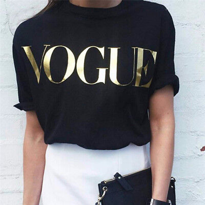 Women Summer Short Sleeve T-shirts Cotton Letter Printed Tops Tee Blouse