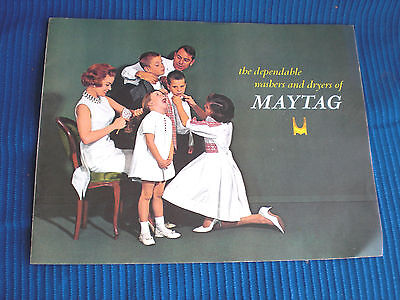 Vintage 1960s Maytag Washer And Dryer Product Line Catalog Advertising Laundry