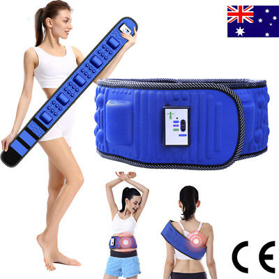 New 2018 Electric Slimming Belt Body Shaper Weight Loss Fat Cellulite Burner AU