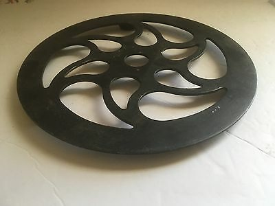"Antique/vintage Round 8.5"" Supported Trivet Hearth"