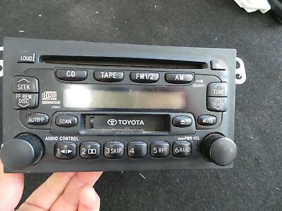 Toyota Camry Radio/cd/dvd/sat/tv Radio/cd Player, Sk20, 08/97-08/02 97 98 99 00