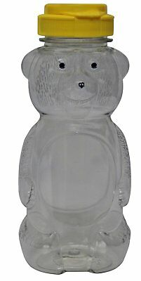 Mann Lake CN530 24-Pack Plastic Squeeze Bear with Yellow Flip Top, 12-Ounce