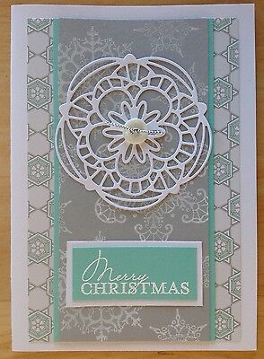 Handmade Christmas card; Early special! - soft snowflake.
