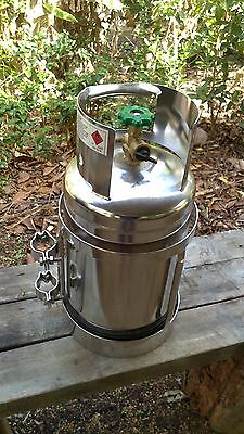 Stainless Steel Marine 4.5 Kg Bbq Gas Bottle For Boat, Caravan Or Camping