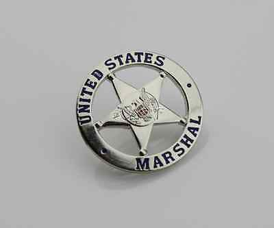 New silvery Vintage badge US Federal US MARSHAL American badge 1PCS