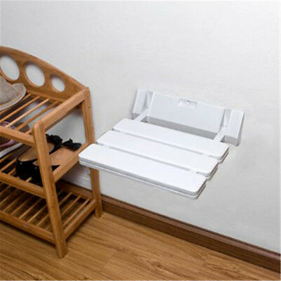 Multi-Use Wall Mounted Bathroom Spa Shower Stool Fold Up Seat Rest Bench Chair