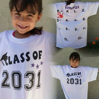 Class of 2030 or 2031 Memory Graduation personalized t-shirt, Grow with me!