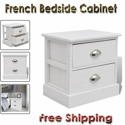 French Bedside Cabinet Storage Table Nightstand End Telephone Stand Home Bedroom