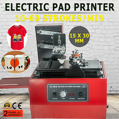 【Usa】Electric Pad Printer Printing Machine T-Shirt Oil Ink Ball Pen Trademarks