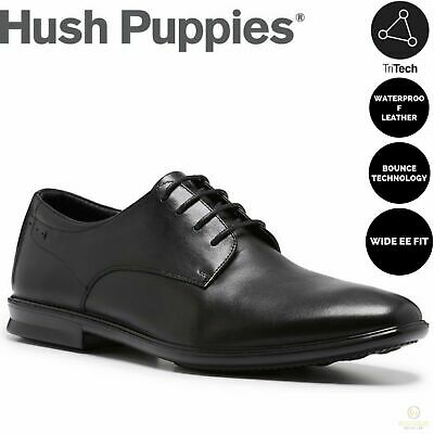 HUSH PUPPIES CALE Leather Formal Business Shoes Casual Work Loafers Extra Wide