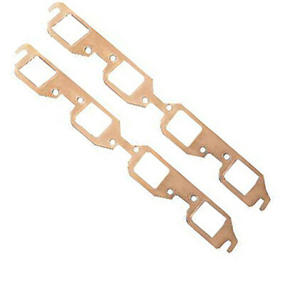 BBC Reusable Copper Exhaust Header Gaskets Chevy V8 Rectangle Port