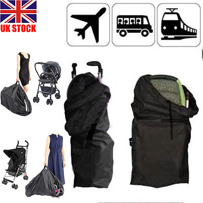 UK Pram Gate Check Travel Bag Umbrella Stroller Pushchair Buggy Waterproof Cover