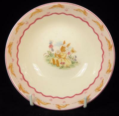 Royal Doulton Bunnykins Pink 'Sweet Hearts' Bone China Bowl 2004