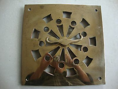 """Magnificent solid cast brass 12"""" square hit and miss air vent"""