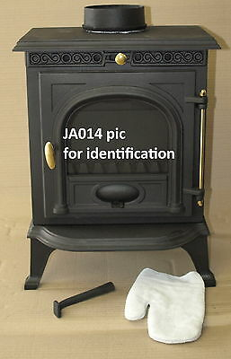 Glass for JA014 VO014 Wood burning stove (247mmx199mm x 4mm)