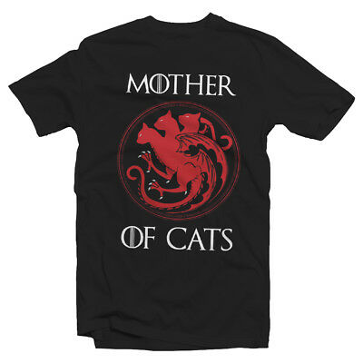mother of Cats Unisex tshirt - Game of Thrones parady funny humour