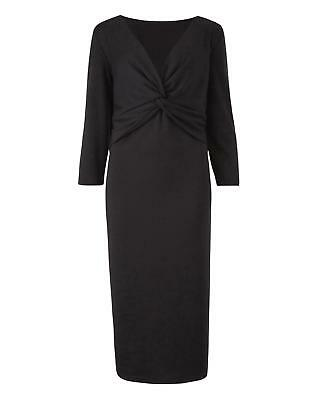 Womens Ruby Knot Front Dress in Black