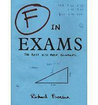 F in Exams: The Best Test Paper Blunders by Richard Benson (Paperback, 2008)