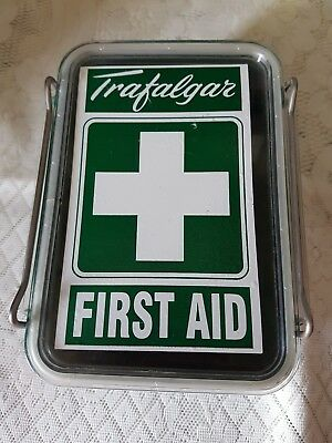 Vintage  Rare New Zealand Trafalgar First Aid Container.  Excellent Condition.