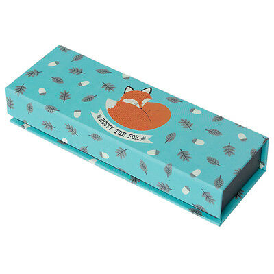 dotcomgiftshop RUSTY THE FOX CARDBOARD PENCIL CASE WITH MAGNETIC LID