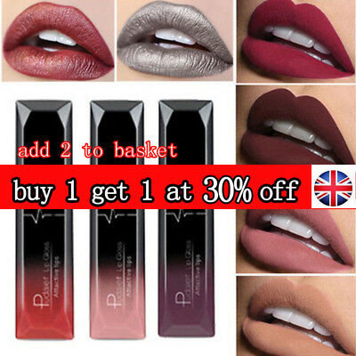 Fashion Makeup Waterproof Matte Velvet Liquid Lipstick Long Lasting Lip Gloss UK