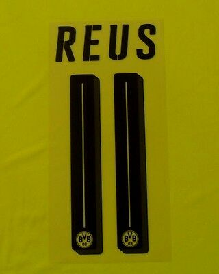 """REUS 11"" BVB Football Home Shirt Junior Name & Number Set 2016/17 Print"