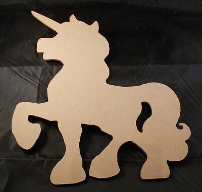 DIY Wooden Unicorn - Wood Shape Unicorn - 26cm x 22cm