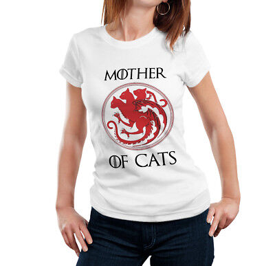 Mother Of Cats Ladies Tshirt 5 colours - Thrones humour Funny Cat lady Kittens