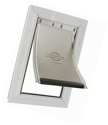 Safe Staywell Medium Pet Door Solid Aluminium Frame for Dogs with Closing Pannel