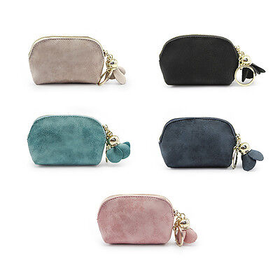 Fashion Women Leather Small Wallet Card Key Holder Zip Coin Purse Clutch Bag New