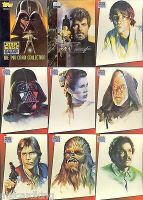 Star Wars - Galaxy Series 1 - Complete Trading Card Set (140) TOPPS 1993 - NM
