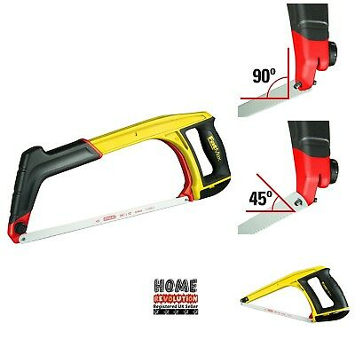 Stanley 020108 FatMax 5-in-1 Hacksaw Tension 45 and 90-degree Lighweight Frame