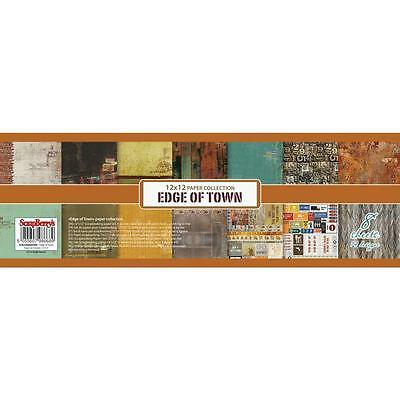 "ScrapBerry's - EDGE OF TOWN - 12x12"" Paper Collection - 8 sheets"