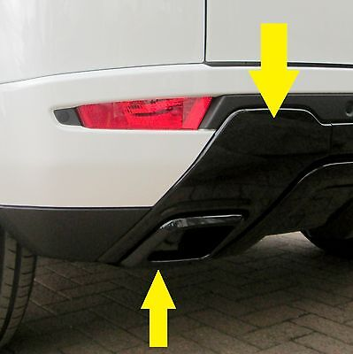 Black Rear bumper LH insert panel for Range Rover Evoque dynamic exhaust N/S