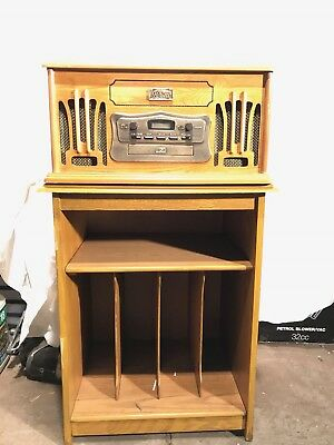 Vintage Style Record/cassette Player With Matching Cabinet