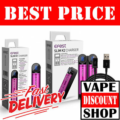 EFEST SLIM K1 K2 INTELLIGENT VAPE CHARGER | 18650 Battery | Best Price