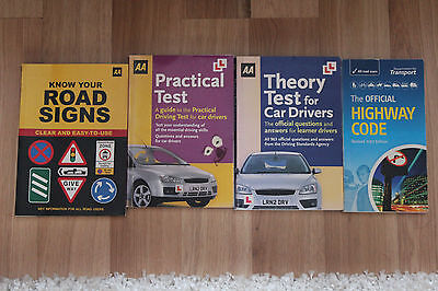 The official highway code and selection of AA practial and theory test books