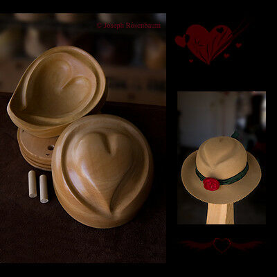 Millinery Hat Block Heart Shape Form Mold Hat Making Tool for Women Hats