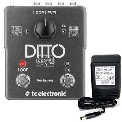 TC Electronic Ditto X2 Looper pedal w/ 9v power supply