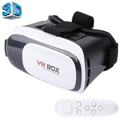 VR BOX 2.0 Universal Virtual Reality 3D Video Glasses with Bluetooth Remote Cont