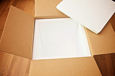 "Styrofoam EPS Panel Polystyrene Sheets Insulated Shipping Box 18""W x 18""L x 18""H"