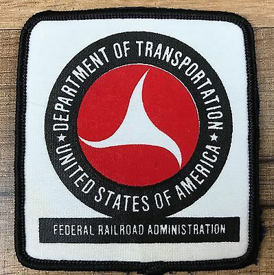 USA Department of Transportation Federal Railroad Administration Hat Shirt Patch