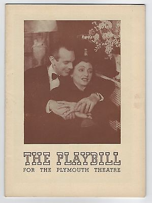 "1944? Playbill ""Lovers And Friends"" Katharine Cornell Raymond Massey Plymouth"