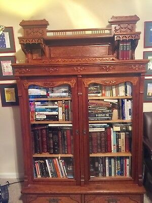 JP Morgan Gift to Greatgrandfather - Family Heirloom Antique Oak Bookcase