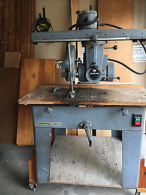 """ROCKWELL-DELTA 18"""" Radial Arm Saw"""